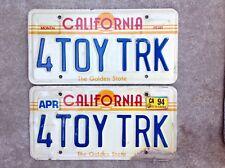 (2) - MATCHING PAIR 1980'S CALIFORNIA VANITY LICENSE PLATES