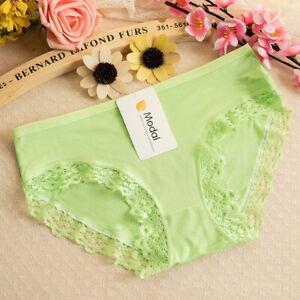 Women Underwear Panties Briefs Lingerie Thongs Hipster G-string Small Green 2#