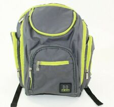 Bb Gear Baby Boom Diaper Bag / Backpack Grey & Lime Green
