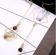 Triangle Long Drop Earrings Beads Asymmetry Earring Women Girl Party Jewelry UK