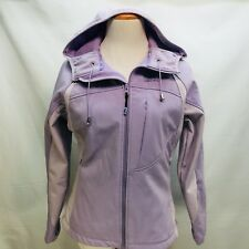 DENALI Women's Sz M Hooded Jacket Coat Adjustable Purple Poly Spandex Zip Front