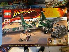 NEW Lego Indiana Jones #7683 Fight On The Flying Wing factory sealed box