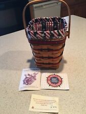 Longaberger 1995 All American Carry Along Basket With Liner And Protector Euc
