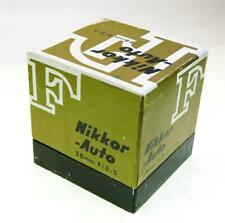 NIKON 28MM F-3.5 NIKKOR AUTO LENS, THE BOX ONLY, NO LENS, SHIP WORLDWIDE