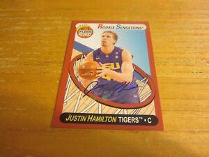 Justin Hamilton Signed 2012-13 Fleer Retro Autographs #78 Card NBA Bobcats