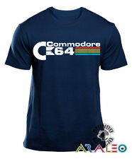 T-SHIRT COMMODORE 64 PC COMPUTER MAGLIETTA UOMO JERSEY SHIRT navy