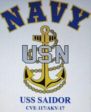 USS SAIDOR  CVE-117/AKV-17* ESCORT CARRIER U.S NAVY W/ ANCHOR* SHIRT