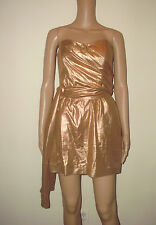 French Connection Size 6 Strapless Lined  Metallic Dress