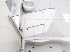 NEW DESIGN 180° Pivot Radius 6mm Glass Over Bath Shower Screen Door Panel
