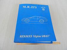 MANUALE ISTRUZIONI RIPARAZIONI OFFICINA ORIGINALE 1985 RENUALT ALPINE V6 GT 273