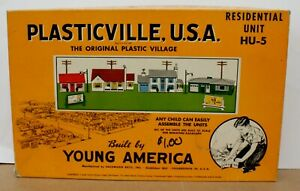 Plasticville HU-5 O Residential Unit Large Boxed Master Set 1954 Boxed/ Complete