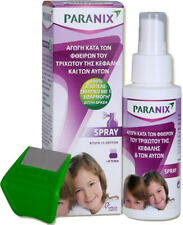 PARANIX SPRAY NATURAL -NON TOXIC- HEAD LICE TREATMENT 100ML &  FREE COMB