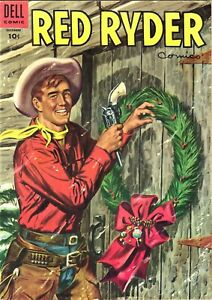 RARE DECEMBER 1954 RED RYDER COMICS WITH CHRISTMAS COVER