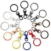Lobster Clasps Trigger Swivel Clip Key Ring Bag Charm Finding Split Ring AIT+B4T