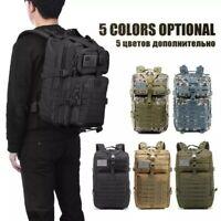 50L Army Combat Rucksack Military Backpack Travel Pack Back Bag