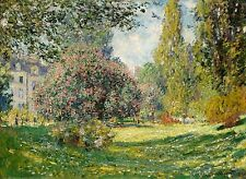 Landscape The Parc Monceau 1876 by Claude Monet Old Masters 13x18 Print