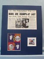 Brooklyn Dodgers Win the 1955 World Series honored by the Subway Series stamp
