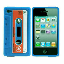 Coque silicone IPHONE 5 cassette audio bleue