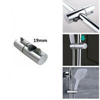 9-25mm Chrome Sturdy Bathroom Shower Rail Head Slider Holder Adjustable Bracket