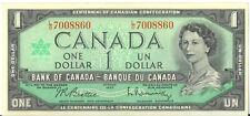 1967 Centennial of Canadian Confedertion $1 One Dollar L/O Prefix UNC