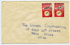 Ghana Stamps (Gold Coast) on Cover July 1958 - Lionel Corporation NY Trains
