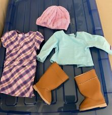 American Girl Just Like You/Truly Me Retired Pretty and Plaid dress w/Boots,more
