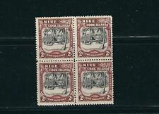 NIUE 1944-6 pictorial 2sh block/4 VF MNH read desc