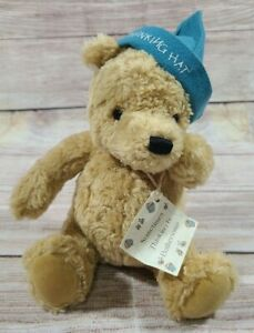 "Gund Disney Plush Classic Pooh Bear Stuffed Animal Thinking Hat 9"""