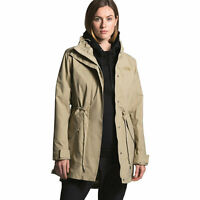 THE NORTH FACE Metroview waterproof rain women's jacket trench coat -Beige-SMALL