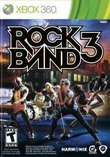 Rock Band 3 [Microsoft Xbox One 360 83 Song Setlist EA Games Guitar Bass Drums]