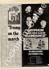 Gryphon Raindance Sussex University MM5 LP/Tour Advert Supertramp Interview 1975