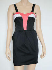 BARDOT Black Body Con Fitted Summer Party Cocktail Spring Races Dress sz 6