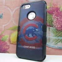 for Apple iPhone 7 Impact Armor Rugged Cover Case Chicago Cubs #JY