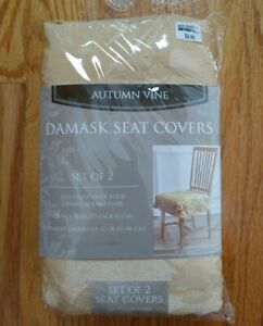 Autumn Vine Damask Seat Covers-Set of 2