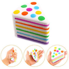 Kawaii Squishy Rainbow Cake Scented Slow Rising 5Sec. Restore Squeeze Fun Toys