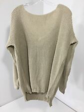 BOOHOO WOMEN'S LAURA V BACK OVERSIZED JUMPER STONE M/L NWT