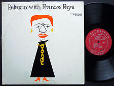 FRANCES FAYE Relaxin With..LP BETHLEHEM RECORDS BCP-62 Orig US 1957 DG MONO