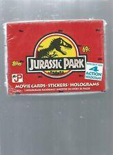 1992 TOPPS JURASSIC PARK SEALED BOX*** 36 FACTORY SEALED  PACKS***