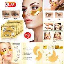 100x Premium Crystal Collagen Gold Powder Eye Masks Face Pad Anti Ageing Wrinkle