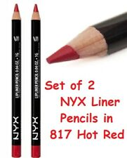 **LOT of 2** NYX Lip Liner Pencil  817 HOT RED  Helps Prevent Bleeding *SEALED*