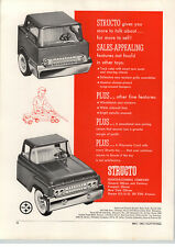 1963 PAPER AD Structo Toy Truck Car Auto Carrier Cabs Steel
