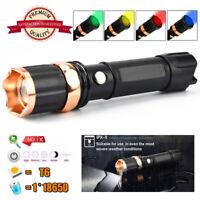 Tactical Police 10000 Lumen XM-L T6 LED 3 Modes Flashlight Aluminum Torch Lamp