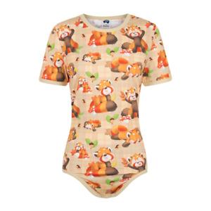 ODU Red Pandas Adult Diaper Cover / Bodysuit