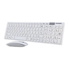 Keyboard 2.4G Wireless Mouse USB Receiver Combo Kit for PC Laptop White Wireless