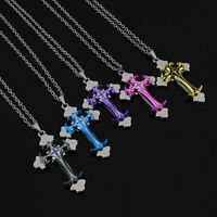 Unisex's Men Fashion Stainless Steel Cross Pendant Chain Necklace New Jewelry