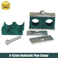 Hydraulic Pipe Clamp Clip - Twin/Double Tube Clamp 6 mm to 42 mm