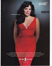 GOT MILK 2007 SARA RAMIREZ magazine ad singer songwriter actress Grey's Anatomy