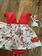 Pat Pat Baby Boutique Christmas Outfit Nwt Girl 6-9 Months