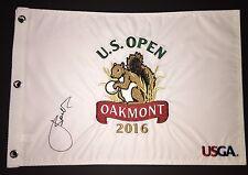 Jordan Spieth Signed 2016 US Open Oakmont Embroidered Pin Flag COA