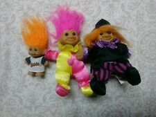 Lot 3 Russ Troll Dolls Rare Halloween Witch Clown Baltimore Orioles